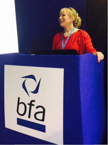 Roz Goldstein speaking at BFA event