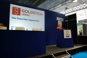Roz Goldstein speaking at the British and International Franchise Exhibition, London March 2016