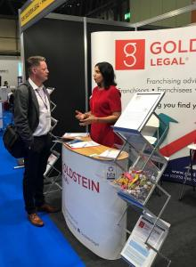 Goldstein Legal at the National Franchise Exhibition in Birmingham, October 2017
