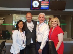 Roz Goldstein on BBC Radio 4 with the host, Evan Davis, Right at Home's CEO Ken Deary & Subway franchisee, Rachana Pancholi