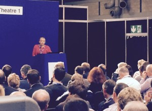 Roz Goldstein speaking to a full house at the National Franchise Exhibition at the NEC October 2015